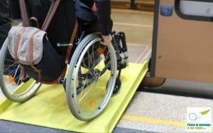 l'assistance PMR de la STIB est nécessaire car l'accessibilité du métro n'est pas suffisante